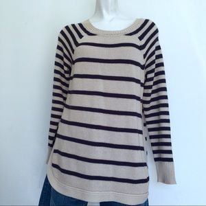 RDI PULLOVER STRIPED LONG SWEATER I2